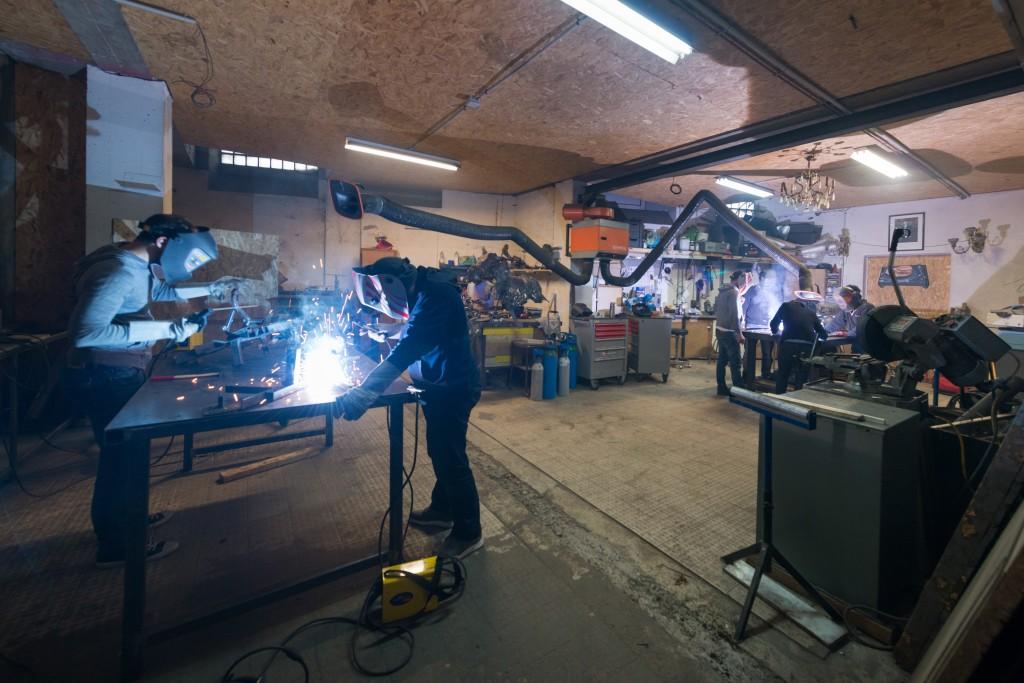 L'atelier métal chez ICI Montreuil (crédit photo : Julien Dominguez)