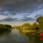 L'Oise vue du Pont d'Auvers (photo de Dominique Martinelli)