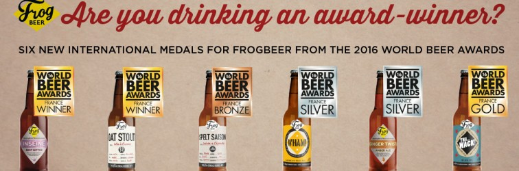 FrogBeer - les 6 bières médaillées aux World Beer Awards 2016