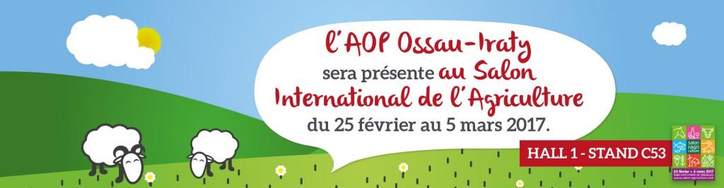 L'AOP Ossau-Iraty sera présente sur le Salon de l'Agriculture 2017 - Hall1 C53