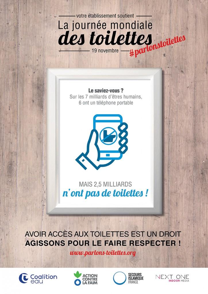 Un visuel Next One pour la Journée Mondiale des Toilettes