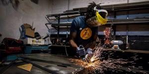 L'atelier métal d'ICI Montreuil (crédit : Julien Dominguez)
