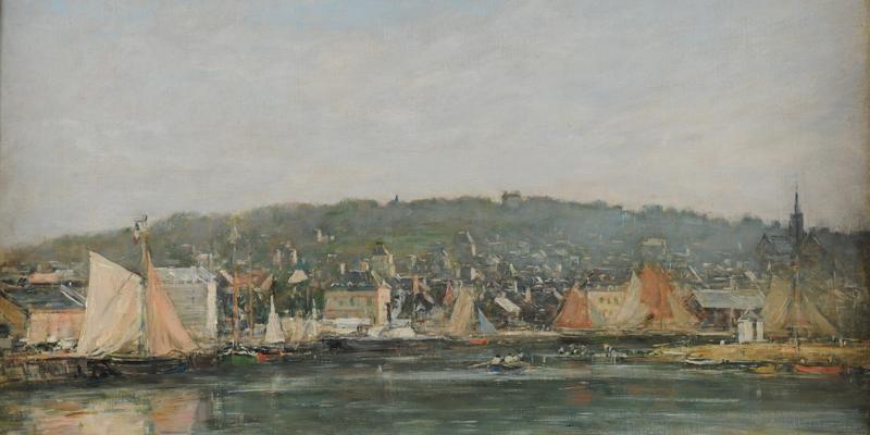 Eugène Boudin, Le Port de Trouville le matin, Huile sur toile, Musée des Beaux-arts de Reims ©Devleeschauwer